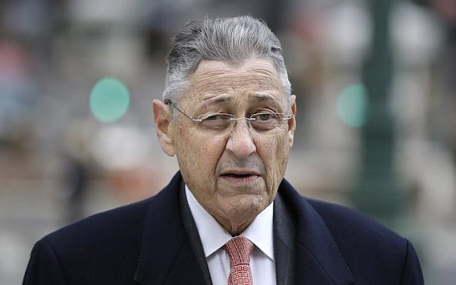 Former New York Assembly Speaker Sheldon Silver arriving at a courthouse in Manhattan, November 24, 2015. (Seth Wenig/AP)