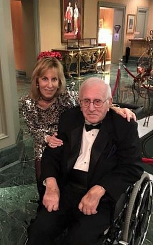 Nancy Spielberg, the youngest of the four siblings, and her father, Arnold Spielberg, who is about to turn 99 (Courtesy Nancy Spielberg)