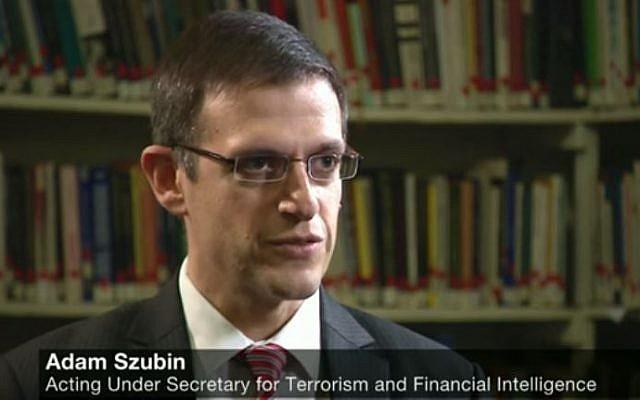 Acting US Treasury Undersecretary for Terrorism and Financial Intelligence Adam Szubin. (YouTube/BBC Newsnight)