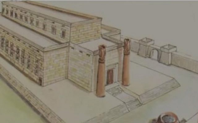 An artist's rendition of Solomon's First Temple (YouTube screen capture)