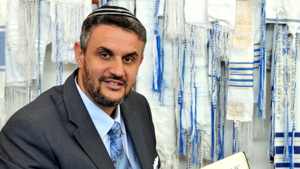 The reelected Chief Rabbi of the Religious Council of Karaite Jews, Rabbi Moshe Piroz. Piroz was reelected unanimously in January 2016. (Courtesy Karaite Religious Council)