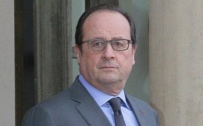 French President Francois Hollande at the Elysee Palace, Paris, January 11, 2016. (AFP/JACQUES DEMARTHON)