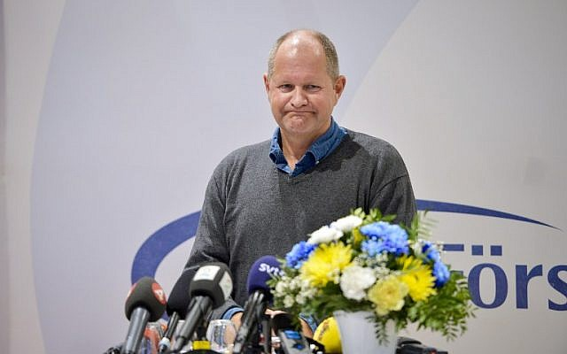 National Police Commissioner Dan Eliasson holds a press conference after Swedish police ordered an investigation into allegations that officers covered up sexual assaults by mostly immigrant youths at a music festival in Stockholm, at a conference in Sälen, Sweden, on Jan. 11, 2016.  (AFP / TT NEWS AGENCY / Henrik Montgomery)