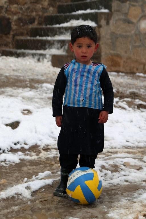 d2261f15f Afghan plastic bag jersey boy may meet idol Lionel Messi