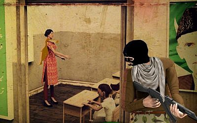 "Screenshot from video game ""Pakistan Army Revolution"" based on 2014 Peshawar school massacre, pulled from Google Play in January 2016 (credit: Google Play)"