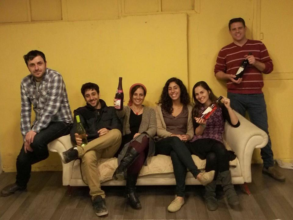 Celebrating another successful solution at Jerusalem Puzzle Quest (Eliana Block/Times of Israel)