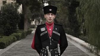 22 year-old Circassian guard Private Adnan Sami Bjanthala, poses for a photograph outside Basman Palace, in Amman, Jordan, January 11, 2016 (AP Photo/Nariman El-Mofty)