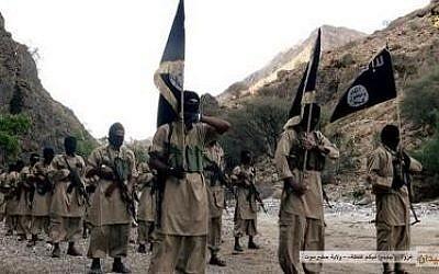Al-Qaeda in the Arabian Peninsula (AQAP) militants in Yemen in 2014. (Screen capture: Wikimedia commons)