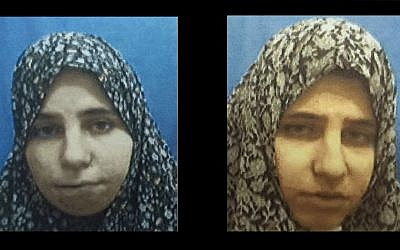 Diana Hawila (left), and Nadia Hawila (right), twin sisters from the Palestinian city of Tulkarem, were arrested by Israeli security forces in December 2015 for making pipe bombs and other explosive devices for use in terror attacks, the Shin Bet security service revealed on January 25, 2016. (Shin Bet)