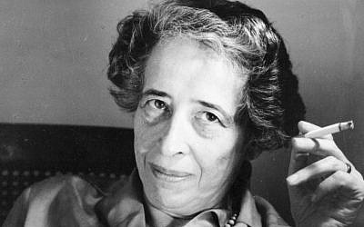 German-Jewish philosopher Hannah Arendt (courtesy)