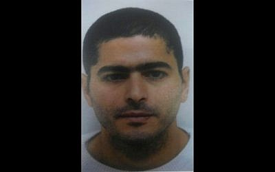 Nashat Milhem, the Arab Israeli man who carried out the shooting attack in Tel Aviv on January 1, 2016. (Israel Police)