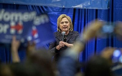 Democratic presidential candidate Hillary Clinton speak to a crowd at the Jim Clyburn Fish Fry, on Saturday, Jan. 16, 2016, at the Charleston Visitor Center in Charleston, South Carolina. (AP Photo/Stephen B. Morton)
