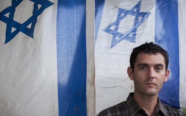 Matan Peleg, CEO of Im Tirtzu on July 31, 2014 (Yonatan Sindel/Flash90)