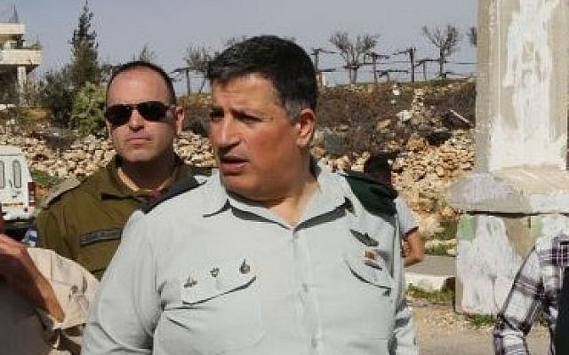 Israel's Coordinator of Government Activities in the Territories Maj. Gen. Yoav Mordechai in 2015 (Gershon Elinson/Flash90)