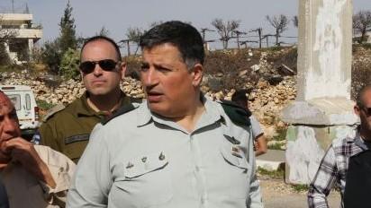 Israel's Coordinator of Government Activities in the Territories Maj. Gen. Yoav Mordechai in 2015 (Gershon Elinson/Flash90)