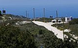 View of the Israel-Lebanon border from Israel's Western Galilee. April 25, 2015. (Nati Shohat/ Flash90/ File)