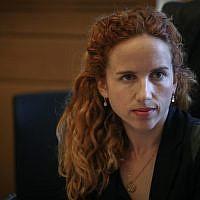 Labor MK Stav Shaffir in the Knesset on July 22, 2015. (Hadas Parush/Flash90)