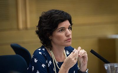 Meretz MK Tamar Zandberg seen in the Israeli parliament on October 19, 2015. (Miriam Alster/Flash90)