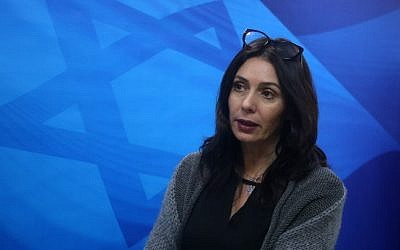 Culture Minister Miri Regev in Jerusalem on December 27, 2015 (Marc Israel Sellem/POOL)