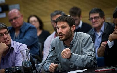 Jewish Home MK Bezalel Smotrich during a Knesset committee meeting, January 11, 2016. (Miriam Alster/Flash90)