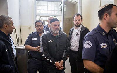Left-wing Israeli activist Ezra Nawi, seen at the Jerusalem Magistrate's Court on January 20, 2016. (Photo by Yonatan Sindel/Flash90)