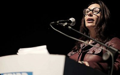 Culture Minister Miri Regev at Habima Theater in Tel Aviv, January 27, 2016 (Tomer Neuberg/Flash90)