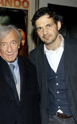 Geza Rohrig with Holocaust survivor author Elie Wiesel (Michael Barker)