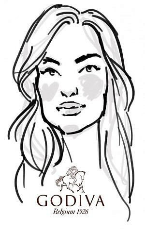 An example of NY Drawing Booth's work from a recent event for Godiva. (courtesy)