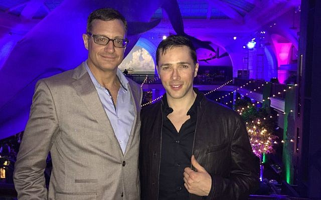 Mark McDermott and Yuval David, stars of a marriage proposal video that went viral. (Courtesy)