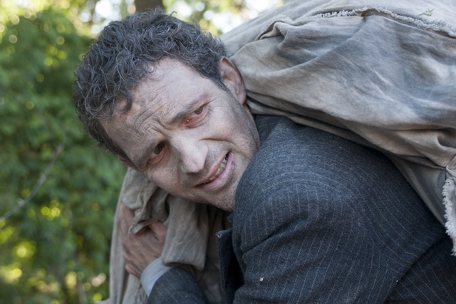Géza Röhrig in an anguished performance in 'Son of Saul.' (courtesy)
