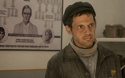 Geza Rohrig in Auschwitz in 'Son of Saul.' (courtesy)