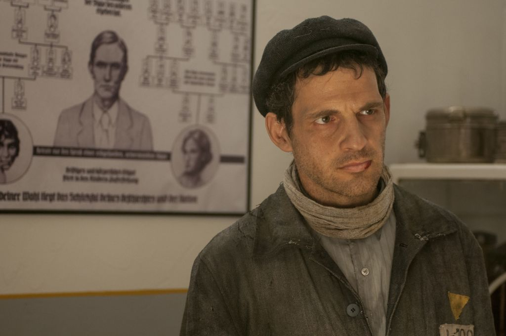 Geza Rohrig in Auschwitz in 'Son of Saul.' (courtesy)