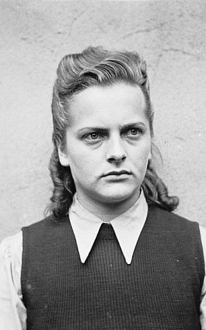 After the liberation of Bergen-Belsen concentration camp in April of 1945, notorious camp guard Irma Grese, who was in charge of the death cells, was photographed before her trial. (Wikimedia Commons)