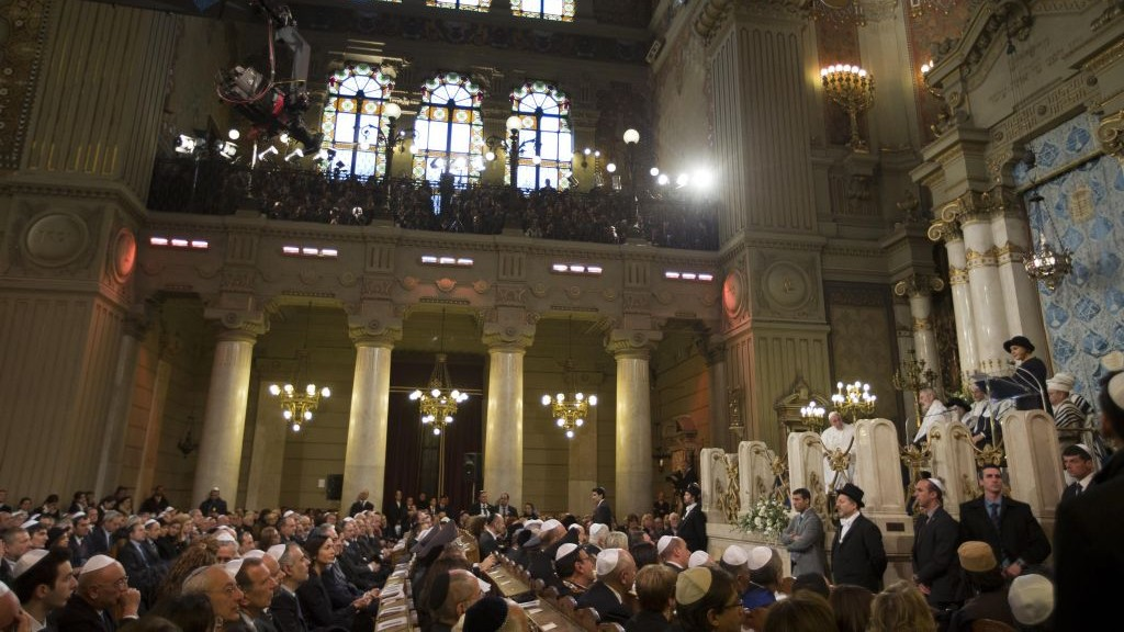 a visit to a jewish synagogue John paul ii's apr 13, 1986, visit to rome's great synagogue was the first of its kind.