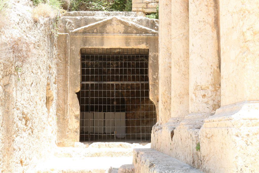 Entrance to possible tomb of King Jehoshaphat, Kidron Valley, Jerusalem (Shmuel Bar-Am)