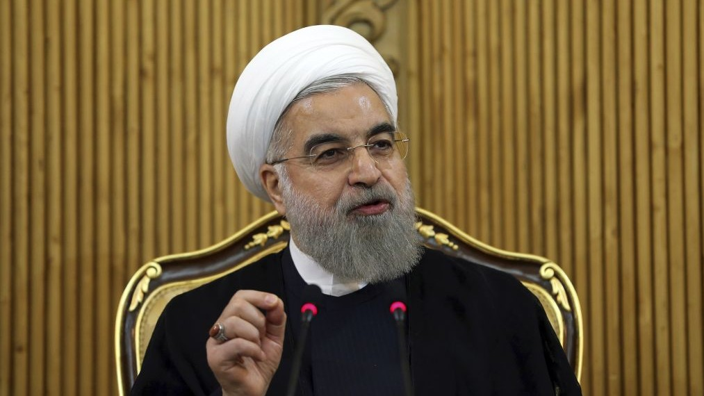 Iranian President Hassan Rouhani briefs media in Tehran, Iran, September 29, 2015. (AP Photo/Ebrahim Noroozi, File)