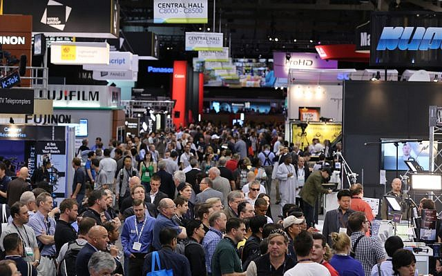 Participants at the 2015 NABShow, the annual convention of the National Association of Broadcasters in the US. (Courtesy)