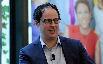 Nate Silver speaking at the ABC Leadership Breakfast panel in New York City, Sept. 28, 2015. (Slaven Vlasic/Getty Images for AWXII/via JTA)