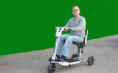 Nino Ransenberg on an Atto Mobility Scooter (Courtesy)