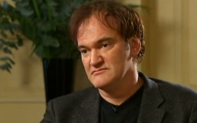 Director Quentin Tarantino in a Channel 4 interview in January 2013. (screen capture: YouTube)