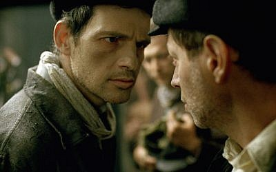 Géza Röhrig as Saul in 'Son of Saul.' (Courtesy of Sony Pictures Classics, via JTA)