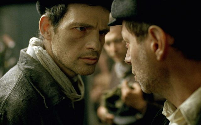 Géza Röhrig as Saul in 'Son of Saul.' (Courtesy of Sony Pictures Classics, via JTA)
