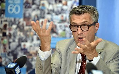 Filippo Grandi of Italy speaks during a press conference at the headquarters of the United Nations, Geneva, Switzerland, September 12, 2012. (Martial Trezzini/Keystone via AP, file)