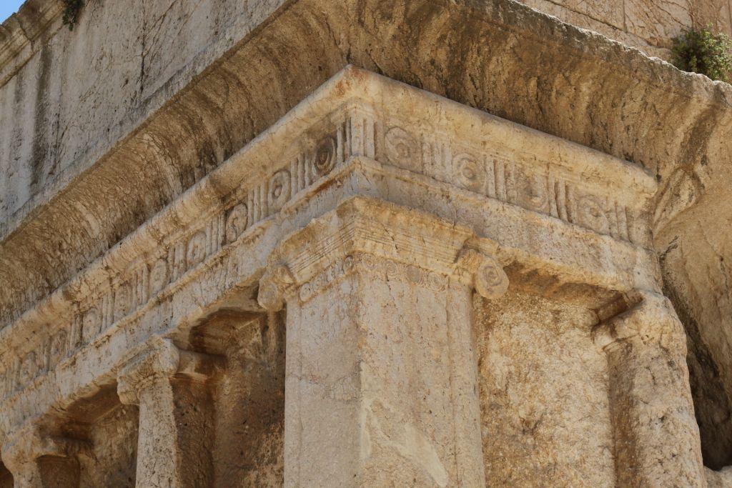 Detail from Absalom's Tomb, Kidron Valley, Jerusalem (Shmuel Bar-Am)
