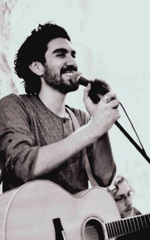 Apo Sahagian, the Apo of Apo and the Apostles, is the lead singer of the band and also works on his own musical projects in Armenian and English (Courtesy Apo and the Apostles)