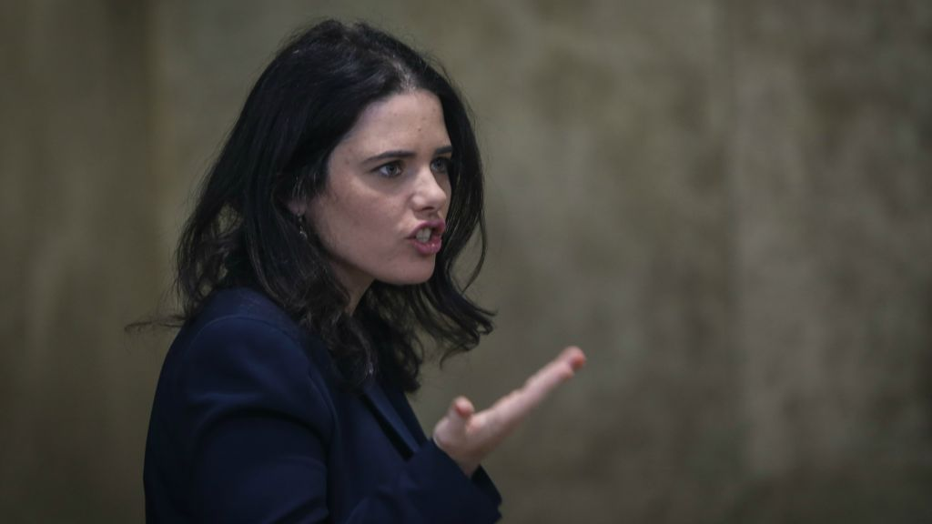 Justice Minister Ayelet Shaked in Jerusalem, January 3, 2016. (Alex Kolomoisky/Pool/Flash90)