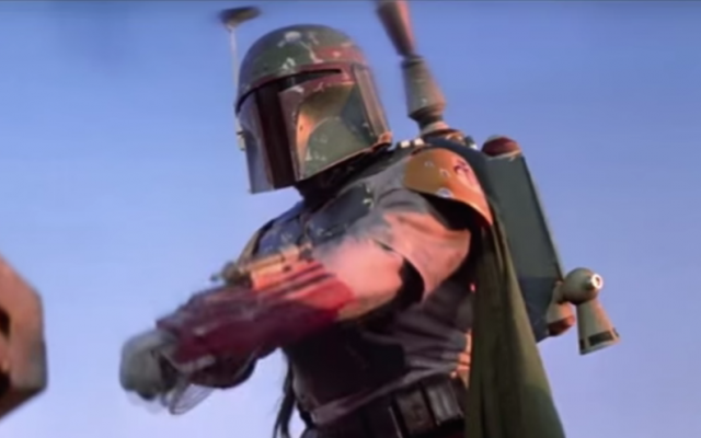"The Boba Fett character from the ""Star Wars"" movie franchise. (YouTube screenshot)"