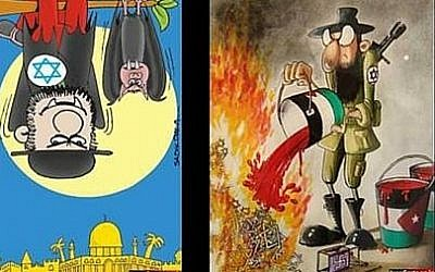 A drawing submitted to a Holocaust denial cartoon contest sponsored by Iran in 2015.