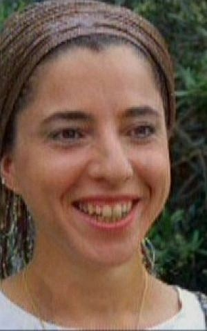 Dafna Meir, seen in an undated photo, was killed in an attack in her Otniel home on January 17, 2016. (screen capture: Channel 2)