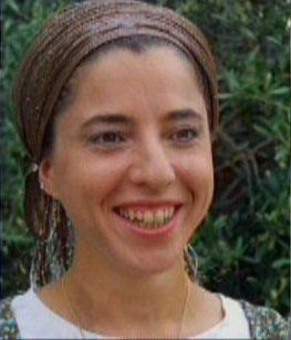 Dafna Meir, seen in an undated photo, killed in an attack in her Otniel home on January 17, 2016. (screen capture: Channel 2)